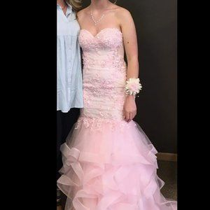 Tony Bowls Pastel Pink Prom Dress (One of a kind)